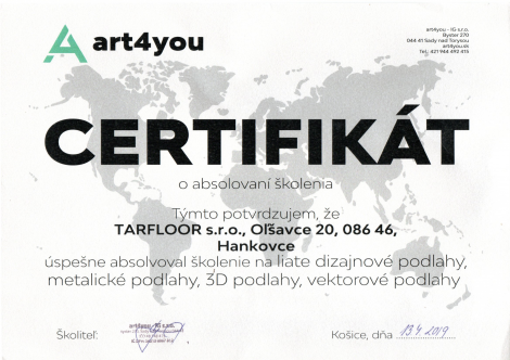 Certifikát art4you