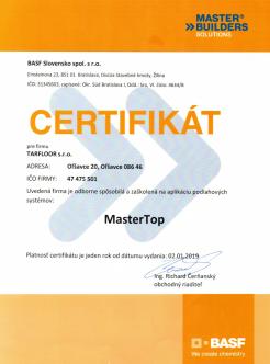 Certifikát BASF